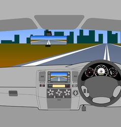 Driving on Road vector image vector image