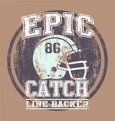 EPIC CATCH FOOTBALL vector image vector image