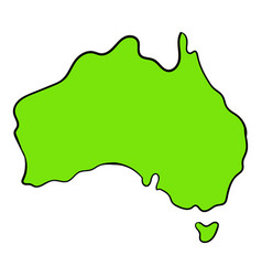 map of australia icon cartoon vector image vector image