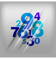 Numbers background vector