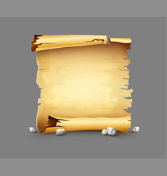 Old paper scroll antique vector