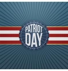 Patriot day paper festive badge vector