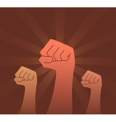 Revolution fist vector image vector image