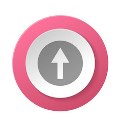 round button with arrow symbol vector image