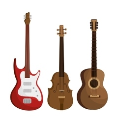 set musical instruments icons vector image