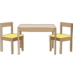 Table with chairs vector