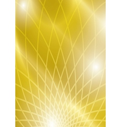 Yellow abstract background with lights and grid vector
