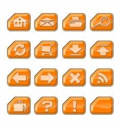 web icons a orange vector image