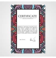 Graphic design template document with hand drawn vector