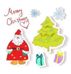 fun christmas icons vector image