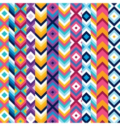 Multicolor ethnic stripe pattern vector image