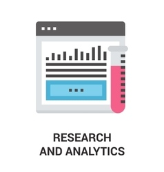 research and analytics vector image