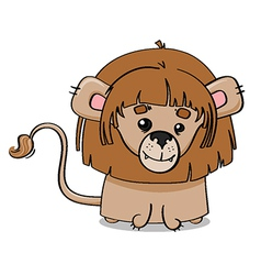Adorable lion cub vector image