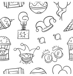 element circus hand draw pattern vector image