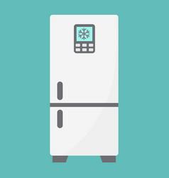 Fridge flat icon refrigerator and appliance vector
