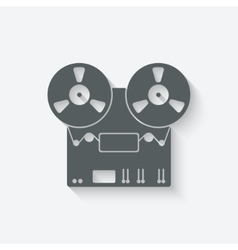 tape recorder icon vector image