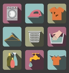 Laundry flat icon vector