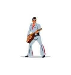 Musician artist with a guitar in the image of vector