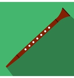 Flute flat icon vector