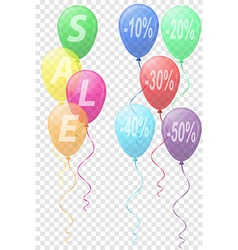 Balloons sale 03 vector