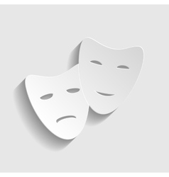 Theater icon with happy and sad masks vector