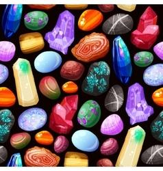 Crystals Stones Rocks Seamless Pattern vector image