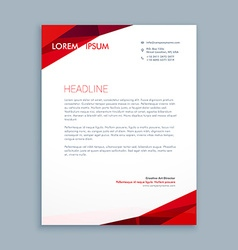 Abstract letterhead template vector