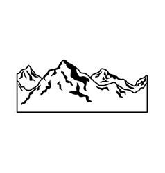 alpine mountain switzerland landscape travel image vector image vector image