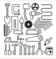 Architecture and construction tool icons set vector image