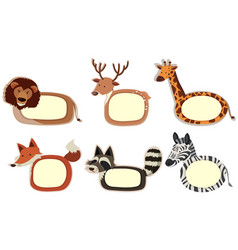 banner design with wild animals border vector image vector image