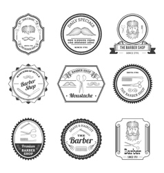 Barber Shop Emblems vector image
