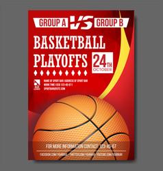 basketball poster design for sport bar vector image