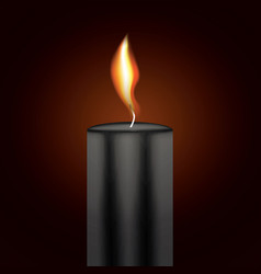 Black candle flame vector