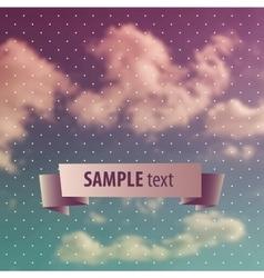 Blurred sky vintage background vector