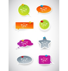 colored stickers vector image vector image