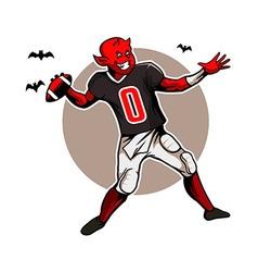 Devil Quarterback vector image vector image