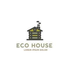 eco house logo template flat design concept of vector image