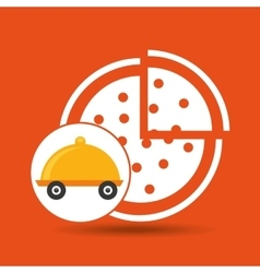 Fast delivery food pizza vector