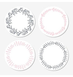Fast food sticker templates collection hand drawn vector