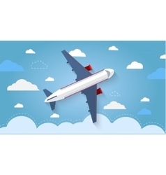 Flight of the plane in the sky vector