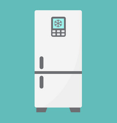 fridge flat icon refrigerator and appliance vector image