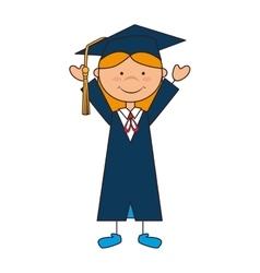Girl graduate gown school vector