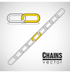 Gold and silver link chain vector