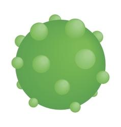 Green round virus isometric icon vector
