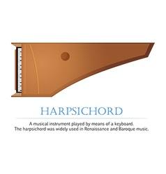 Harpsichord vector image vector image