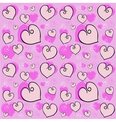 heart tile vector image vector image