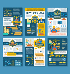 house construction and home repair banner temlate vector image