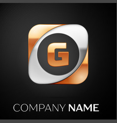 letter g logo symbol in the colorful square on vector image