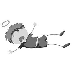 Little boy falling down vector