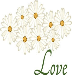 Love daisies vector